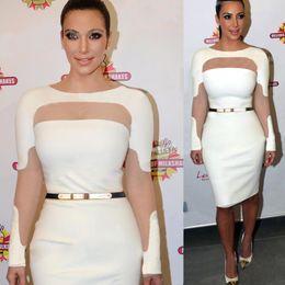 2017 robes moulantes kardashian Gros-New 2015 Femmes Eté Automne Casual Sexy Party Dress Basic Soirée Bodycon élégante Taille Vestidos OL plus Kim kardashian XS ~ 4XL budget robes moulantes kardashian