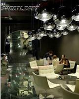 Wholesale D30cm Original Tom Dixon Mirror Ball E27 glass plating ball chandelier commercial establishments simple and stylish restaurant