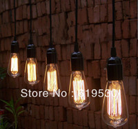 bars pics - Vintage edison line hanging bulb pendant lights for restaurant club coffe bars light glass lamps with the pic show bulb