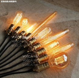 Wholesale fashion creative edison line hanging bulb copper holder pendant lights for restaurant coffe club bars with origin bulb