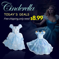 Cheap Wholesale-more style,3-10yrs baby girls dress Cinderella elsa anna Costume girls party Princess Dress Sequined Costume girl dresses