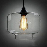 Wholesale Clear Smoked Candy Jar Glass pendant lamp W Glass Blown Dia cm Pendant Light E27 Light Source