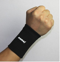 athletics wrist bands - One Pair BLACK SPORT Athletic Sweat band Sweatband Wristband for GOLF TENNIS BASKETBALL