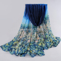 Wholesale Voile Oversize Fashion Flower Printing Scarf sobretudo inverno travel beach Shawl Bikinis Wraps Sarong