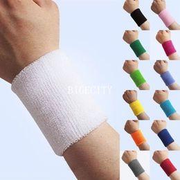 Wholesale-5x Hot Unisex Sports Sweatband Sweatbands Wristbands Wrist Workout Gym Yoga A1
