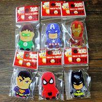 Wholesale box Cute Cartoon The Avengers Rubber Eraser for Kids Gift School Cartoon Girls Children Kid Favor Gift