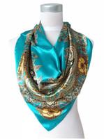 Cheap silk scarf Best blue scarf