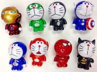 2015 Nuevo Doraemon cosplay vengadores, Capitán América, iron man, la figura de acción de juguete de 2015 mejor regalo envío gratis