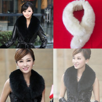 Wholesale New Selling Faux Fur Collars Scarf Collar White amp Black Winter Pure Color Autumn And Winter Drop Shipping SC