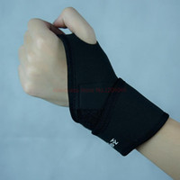 Wholesale Pair Adjustable Neoprene Wrist Hand Support Elastic Palm Brace Sports Magnetic Therapy Self Heating