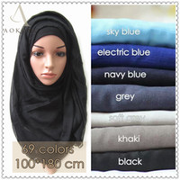 Wholesale mixed color abaya cotton instant scarf woman tudung plain solid viscose soft headwrap maxi muslim hijab