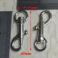 Wholesale G018 MM Long Inside MM Silver Curved Lobster Clasps Swivel Trigger Clips Snap For Key Ring Or Backpack