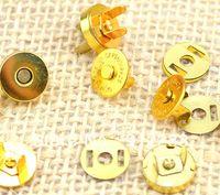 Wholesale sets mm Gold Handbag Clothes DIY Magnetic Metal Button Clasps quot Fashion Accessories