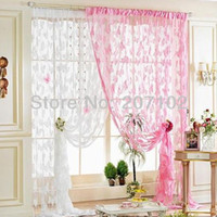 Wholesale BIG SIZE cmX300cm Butterfly String curtain string panel fringe panel room divider wedding drapery colors