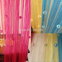 beaded door curtain - Acrylic Beaded window curtain for living room door screen string Tassel wedding drapery