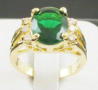 Wholesale 100 NATURAL STUNNING EMERALD KT YELLOW GOLD CT GEMSTONE RING JM2318
