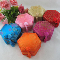 Wholesale Cheap Watch Packing Case Watch Boxes Fashion Silk Fabric Tassel Color Watch Package mix Free