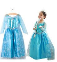 Wholesale Fantasia Infantil Frozen Costume Elsa Dress Fantasy Kids Dress Children Movie Cosplay Costume