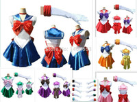 Cheap Wholesale-new anime sailor moon cosplay costume uniform fancy dress up sailormoon outfit cartoon character costumes top fashion 2015