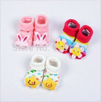baby doll booties - Children cartoon baby booties cotton socks Neonatal hosiery for stereo doll