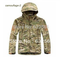 Cheap Wholesale-Multicam Camouflage TAD V4.0 Shark Skin Military Tactical Jacket Coat Softshell Windproof Waterproof Army Hiking Sport Clothing