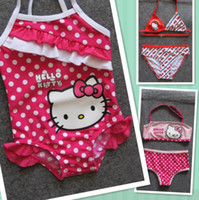 bby - Retail Girls Baby Kids Kitty Swimsuit Swimming Costume Swimwear bikini swimwear baby Toddler One Piece BBY