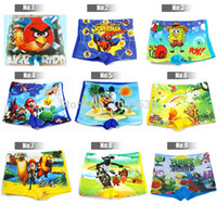 Cheap Wholesale-1 piece Free Shipping 9 Styles Boys Swimwear Children swimsuit For kids beach Swimming Trunks & Jumpsuit SW026