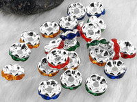 Wholesale 50 X Silver Tone Metal Spacers Beads Caps Findings mm