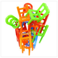 balance chair - Free shiping baby kids children educational toy stacking the chairs balance game desktop stackle jenga toy puzzle