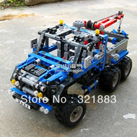 Wholesale DECOOL LARGE Exploiture Crane model Enlighten Plastic building blocks sets educational children toys