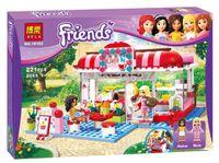 Wholesale gift Original box bela Building Blocks Friends Friends City Park Cafe Construction Educational Bricks Toy for Girl