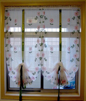 Wholesale One Kitchen Curtain New Beauty Pastoral Print Lifting daisy pattern Curtain Sector Style Cute Home ZHD020