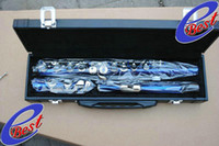 Cheap Bright Blue Flute Silver plate fulte woodwind 2011 NEW free shippingFree ship