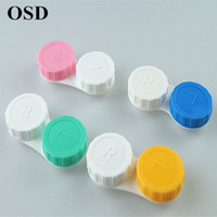 Wholesale pc Travel Contact Lens for Case Holder Eyewear Cases Box Series US pupil care candy colored double box contact lenses color