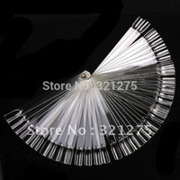 Wholesale Ivory White Plastic Flase Nail Art Tips Stick Display Practice Fan Board amp Nail Art Display transparent
