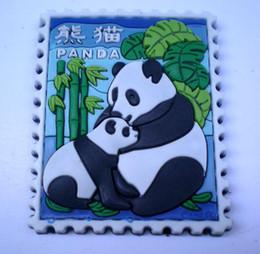 Panda Refrigerator Magnet Fridge Sticker China Culture Rubber Fridge Magnets 10pcs lot