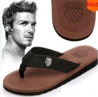 canvas slippers - New Summer Men Casual Flat Sandals Bakham Leisure Soft Flip Flops EVA Massage Beach Slipper shoes for Men Shoes Size