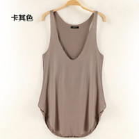 cotton fabric for t-shirt - NEW fashion Women s sexy V neck comfortable cotton fabric Sleeveless Vest Tank Top Tee T Shirt for women