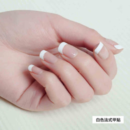 Wholesale Hot sale set fake nails french nail tips white nails tips acrylic nail design pictures for fingernails