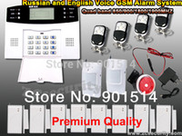 band security - LCD wireless wired SMS GSM alarm system Quad band GSM home security alarm system auto dial alarm kit