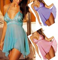 sexy nighty wear - SEXY Lady s Sheer Purple Dress Babydoll Lingerie Nighty Plus Size AU Women s Uunderwear Sleeping wear