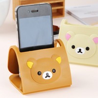 bears player - Easily bear cartoon mobile phone holder bracket Mobile folding base Car Holder for iphone MP3 player TV remote control cm