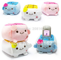 baby tofu - Cartoon Tofu Baby Mobile Phone Holders Plush Dolls Storage Box Remote Cell Phone Mounts Desktop Decoration mix order usd