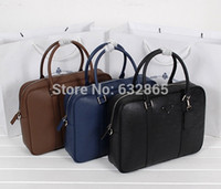 Wholesale Top quality Genuine leather Famous Brand Briefcase Business Bag Male luxury mens handbags