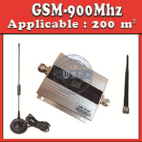 Wholesale GSM Mobile phone Signal Repeater Mhz Signal Booster MHz GSM Amplifier Receivers cover square meter