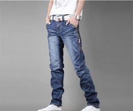 Wholesale-winter man fashion teenagers denim print jeans watch slim fit religion brand fashion stretch overalls for men skinny sweatpants