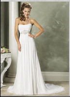 ireland - Ireland wedding dresses bridal gown bridal dresses strapless Chiffon empire waistline