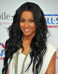 Wholesale 2011 New Ciara s stunning long Celebrity Hairstyle quot Lace Front Remy Indian Human Hair Wigs