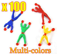 Wholesale 100pcs New Novelty Games Climb Walls Spider Men superman children s toys OPP Bag