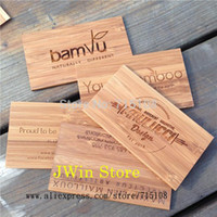 bamboo sculpture craft - Engraving Wooden Business Card Bamboo Craft Name Card Fashion Sculpture Card For Commercial Male Women